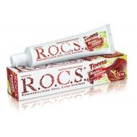 Зубная паста Рокс Teens Вкус активного дня. Кола и лимон, 74 гр