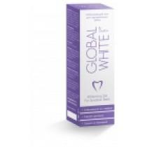 Гель отбеливающий Global White 15 мл для чувствительных зубов с микрощеткой