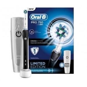 Электрическая зубная щетка Oral-B Pro 750 Cross Action Black D16.513.UX с футляром