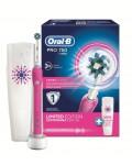 Электрическая зубная щетка Oral-B Pro 750 Cross Action Pink D16.513.UX с футляром