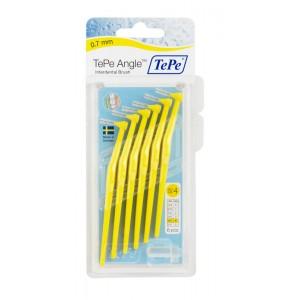 Ёршик межзубный с углом TePe Angle 0.7 мм желтый (6 шт)